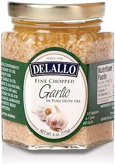 DeLallo - Fine Chopped Garlic in Pure Olive Olil, (2)- 6 oz. Jars