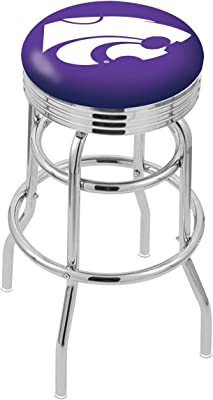 Kansas State University Retro Swivel Bar Stool Barstools