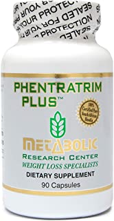 Phentratrim Plus - Weight Loss Supplement, Appetite Suppressant, Increase Metabolism by Metabolic Research Center, 90 Vegetarian Capsules