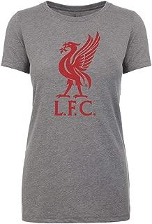 Anfield Shop Liverpool FC Womens Grey Liverbird T-Shirt
