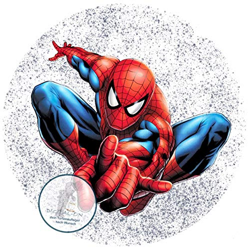 Spiderman, Essbares Foto für Torten, Tortenbild, Tortenaufleger Ø 20cm - Super Qualität, 0136w