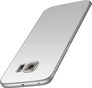 Anccer Funda Samsung Galaxy S6 Edge [Serie Colorida] [Ultra-Delgado] [Ligera] Anti-rasguños Estuche para Samsung Galaxy S6 Edge (Plata Liso)