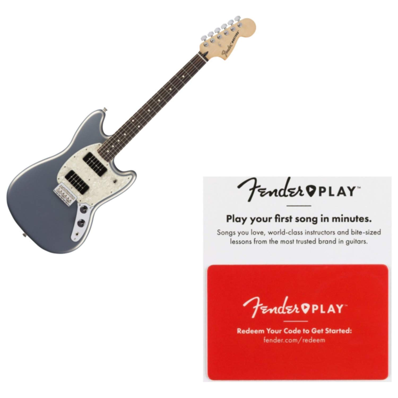 Cheap Fender Offset Series 90 MUSTANG Pau Ferro Silver Electric Guitar w/Fender Play Black Friday & Cyber Monday 2019