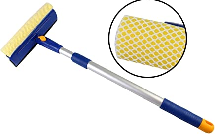 Krevia All Purpose Telescopic Wiper Cleaning Car Office Household Long Window Cleaner (Color May Vary, 70 -125 cm)