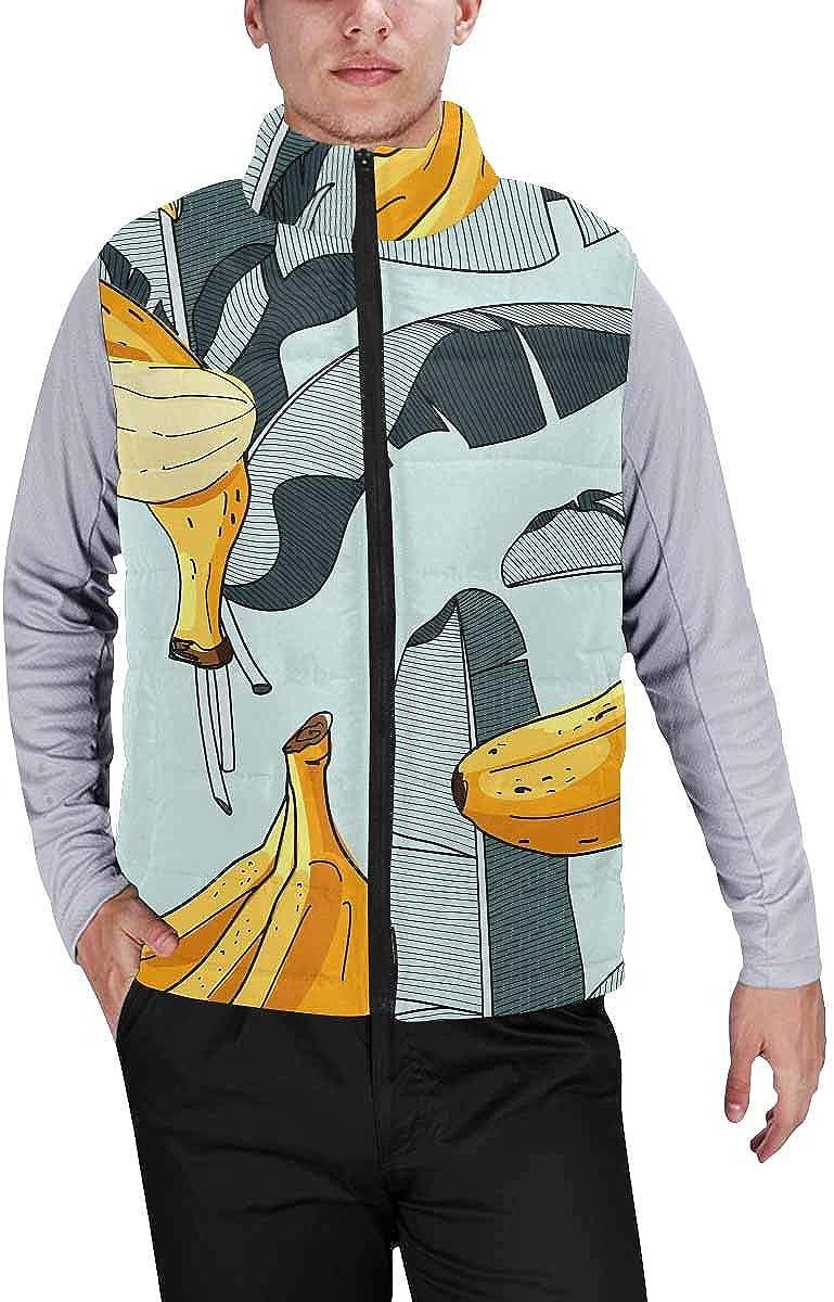 InterestPrint Men's Lightweight Outwear Vest for Hiking, Fishing Travel Adventures Sea Monster