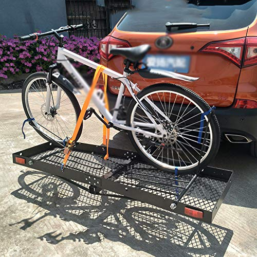 TINGYIN Trailer square mouth car rear spare tire bicycle luggage rack car bicycle rack,Hang 4