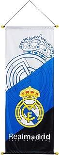 STER-TSP FC Real Madrid Flag Soccer Club Decoration Vertical Hanging Flag White
