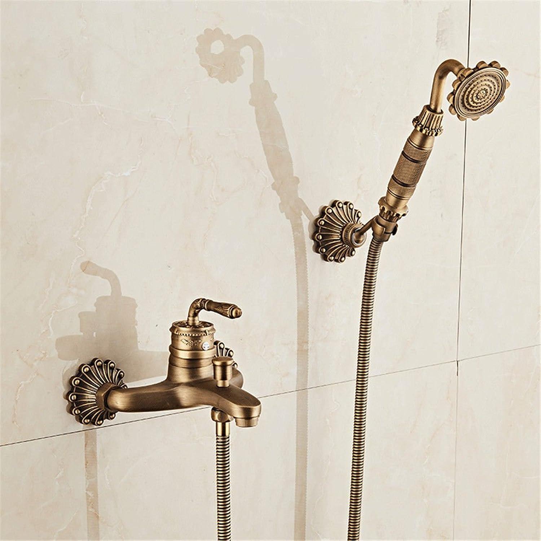 Hlluya Professional Sink Mixer Tap Kitchen Faucet Copper antique shower bath set bathroom faucet mixing valve Shower Faucet