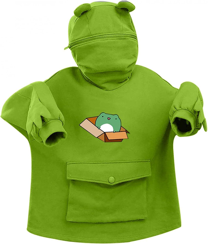 Masbird Hoodies for Women, Womens Frog Hoodies Long Sleeve Fashion Fall Hoodies Anime Casual Cute Vintage Hoodie