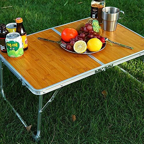 FENGSHUAI Draagbare Outdoor Camping Tafel, Opvouwbare Mini Bamboe Tafel met Opbergtas voor buiten, Picknick, Koken, Strand, Wandelen, Vissen