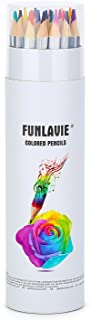 FunLavie Colored Pencils 24 Coloring Pencils Premium Art Drawing Pencil for Adults Coloring Book