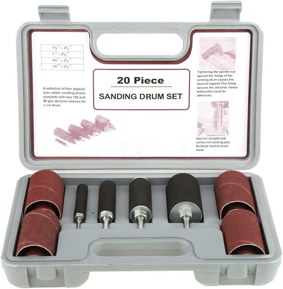 PUSOKEI 20pcs Drive Drill Press Drum Attachm Nashville-Davidson Mall Sanding Ranking TOP13 Sander Kit-
