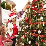 30er LED Weihnachtskerzen Kabellos, Warmweiß Christbaumkerzen Kabellos, led kerzen weihnachtsbaum, IP64, für Weihnachtsbaum, Weihnachtsdeko. mit Batterie Fernbedienung, LED Lichterkette Kerzen. - 3