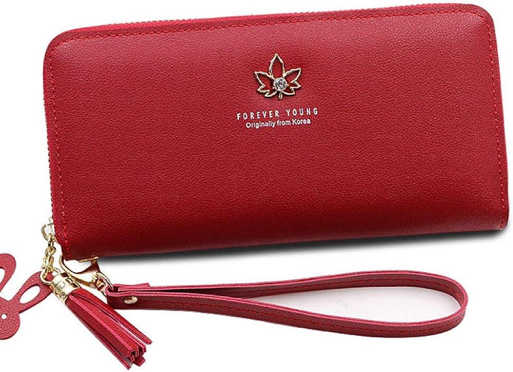 Mrshuai portafoglio porta carte di credito per donna in pelle sintetica 9871535200842