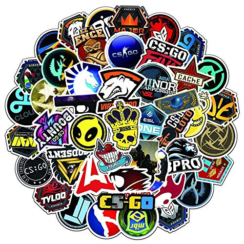 TUHAO Shooting Games Counter Strike Csgo Luggage Skateboard Guitar Waterproof Removable Graffiti Stickers /50Pcs