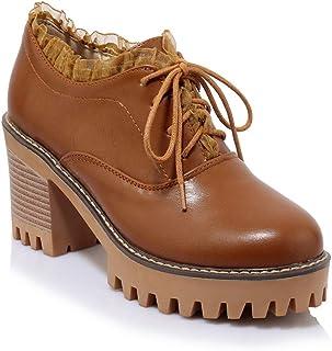 BalaMasa Womens APL11878 Pu Block Heels