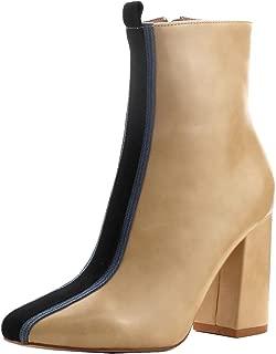Women's Mid Calf Stripe Front Inside Zipper Boot