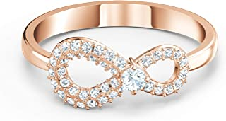 SWAROVSKI Authentic Infinity Rose Gold Plated Ring - Size 5