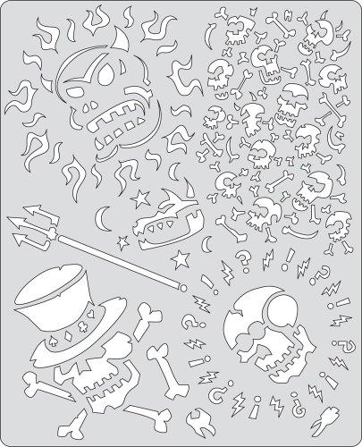 Stencil aerografo Artool Curse of Skullmaster 'Voo Doo'
