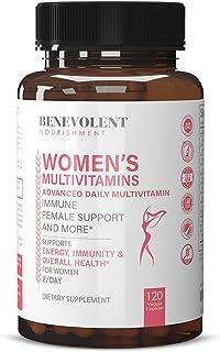 Multivitamin for Women - Supplement for Energy, Immunity, & Female Support - Daily Vitamins for Women w/ Antioxidants, Biotin, Calcium, Magnesium - Non-GMO, Vegetarian Women's Multivitamin - 120 Caps