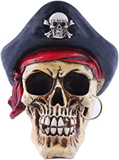AGONG Creative Resin Skull Statue Halloween Party Home Decoration Fashion Priate Skull Sculpture Accessories