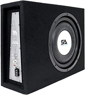 $187 » Sponsored Ad - Seismic Audio - SA-SCE12-A - Powered 12 Inch 600 Watt Slim Shallow Mount Car Truck Audio Subwoofer Enclosure