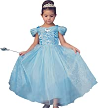 Trish Scully Child Queen of The Kingdom Princess Dress Costume (Blue)
