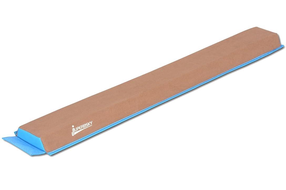 インスタンス原理埋めるJuperbSky体操スエードセクションフォーム平均台軽量 子供のための練習(空色)