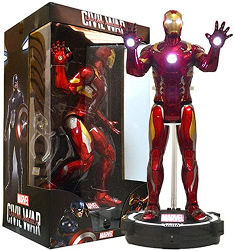 LONGLONGJINGXIAO Toys - Miracle Toys - DC Toys - Avengers 3 4 Joint Abnehmbar - Iron Man - Will Glow (Farbe   B)