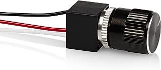 12 Volt DC Dimmer for LED, Halogen, Incandescent - RV, Auto, Truck, Marine, and Strip Lighting - LONG SHAFT - BLACK