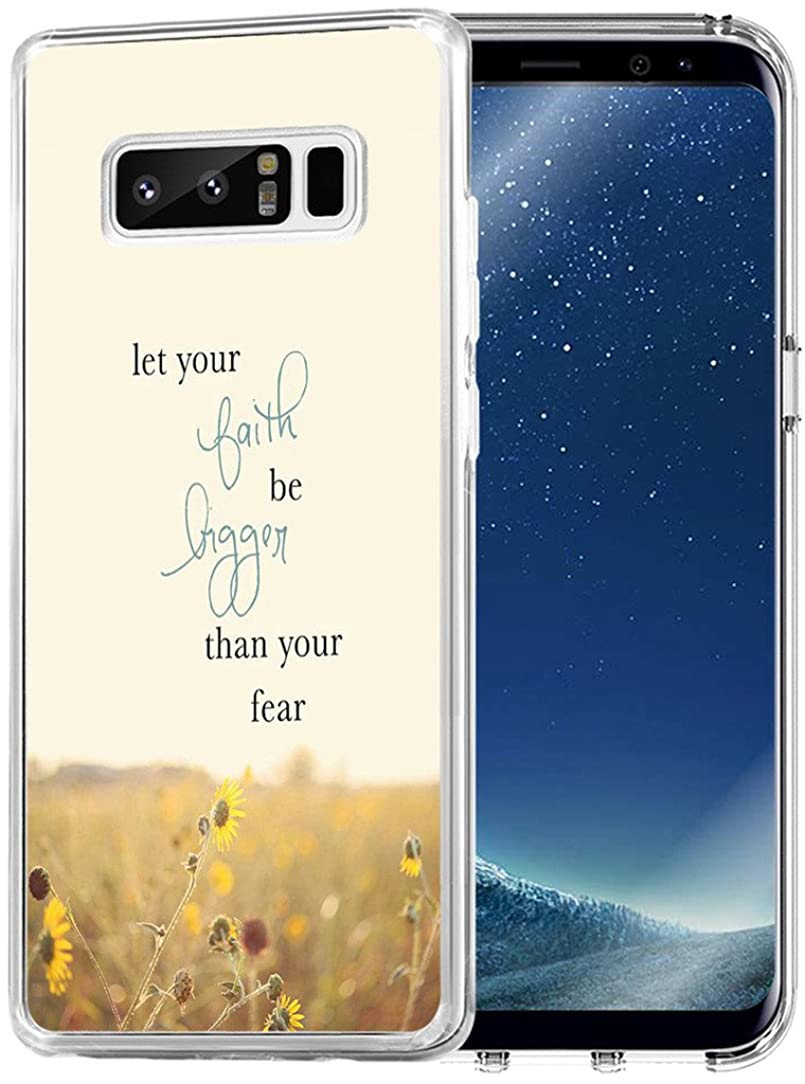 Case for Note 8 Words Motivational - Topgraph [Soft TPU Slim Fit Clear with Design] Compatible for Samsung Galaxy Note 8 Protective Cover Words Inspirational from Books
