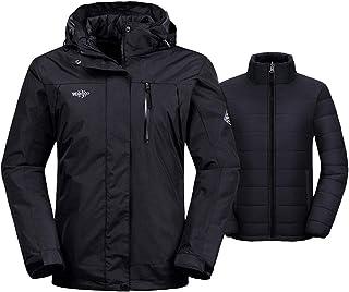 Wantdo Women's 3-in-1 Waterproof Ski Jacket Interchange...