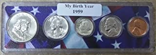 1959-5 Coin Birth Year Set in American Flag Holder Uncirculated