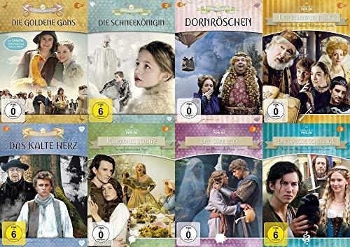 8er Märchenperlen Collection 2 – Die goldenen Gans + Schneekönigin + Dornröschen + Das kalte Herz + Rübezahl .. DVD Edition