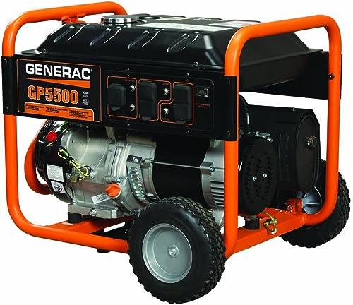 popular Generac 2021 5939 GP5500 5500 Running Watts/6875 lowest Starting Watts Gas Powered Portable Generator online sale