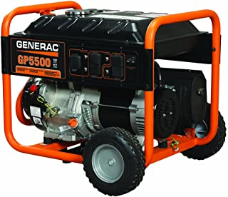 Generac 5939 GP5500 5500 Running Watts/6875 Starting Watts Gas Powered Portable Generator