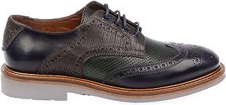 Luxury Fashion | Botti 1913 Men 606CAMELGREEN Multicolor Leather Lace-up Shoes | Season Permanent