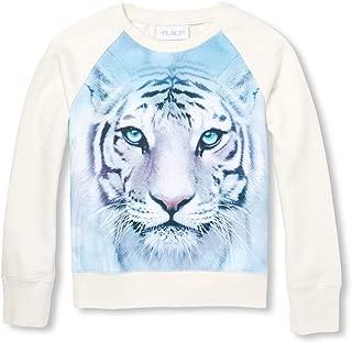 Big Girls Long Sleeve Graphic Sweater