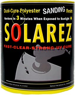 SOLAREZ UV Cure Polyester Sanding Resin ~ for Boat & PWC Repair, Canoes & Kayaks, Fabrication, Woodworking, Pool, SPA, Tub, Equipment Maintenance, Rapid Prototyping, Hobby, RC Modeling