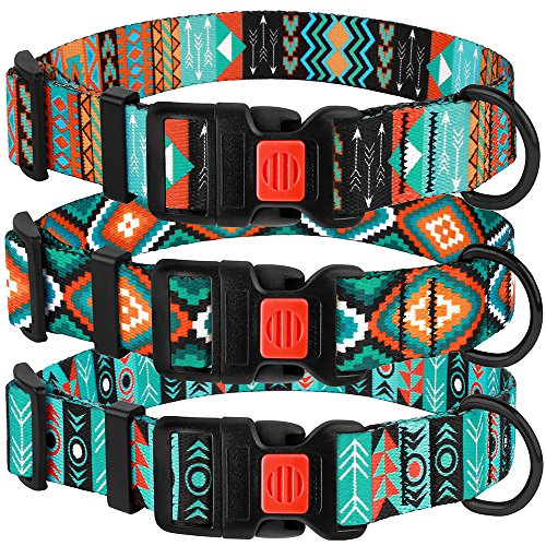 CollarDirect Nylon Dog Collar with Buckle Tribal Pattern Puppy...