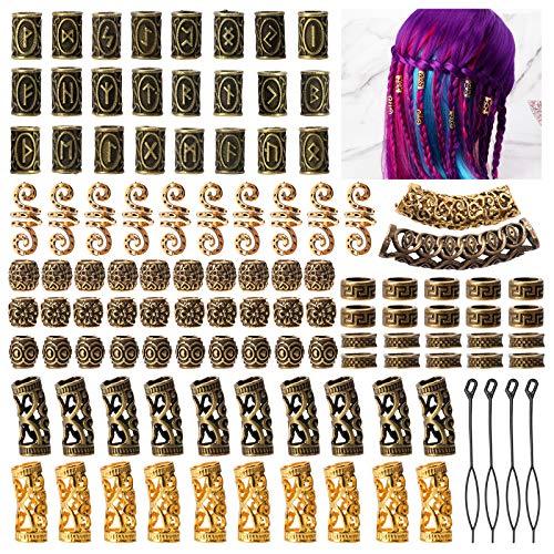 Viking Runes Hair Tube Beads cenoz …