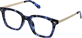 Peepers by PeeperSpecs Women's Limelight Focus Oversized Blue Light Filtering Reading Glasses
