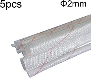 Robluee - 5 Manguitos aislantes de Polietileno para Cable eléctrico, ignífugo, Aislante, Fibra de Vidrio Trenzada, protección térmica, Alta Temperatura