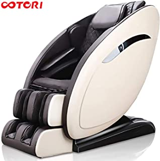 OOTORI Massage Chair, Smart Luxurious Electric Full Body Zero Gravity Shiatsu Massaging Chair Recliner with Heating Back, Bluetooth,Foot Roller and Air Massage System for Home Office Relax (Beige)