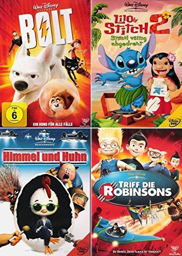 Walt Disney Collection 1 | Bolt - Ein Hund für alle Fälle + Lilo & Stitch 2 + Himmel und Huhn + Triff die Robinsons [4er DVD-Set]
