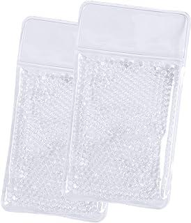 Fun Fan Line Lot de 2 patchs carrés en PVC avec fonction de chaleur froide et perles d'eau à l'intérieur. Peut être chauff...
