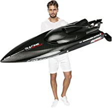 SOWOFA Laggest Racing High Speed Boat 2.4G 4CH 55KM/H Brushless Motor Ultimate Version Excellent Configuration Hobbies Player Adult Favor 25.5' Inches Feilun FT011 RC Remote Control Boat