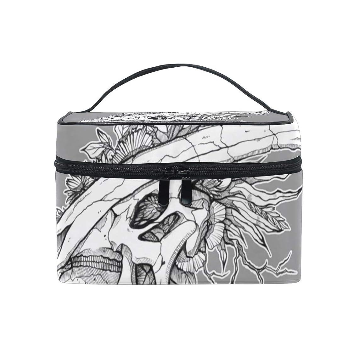 バンガローハック商業のメイクボックス 恐竜の世界柄 化粧ポーチ 化粧品 化粧道具 小物入れ メイクブラシバッグ 大容量 旅行用 収納ケース
