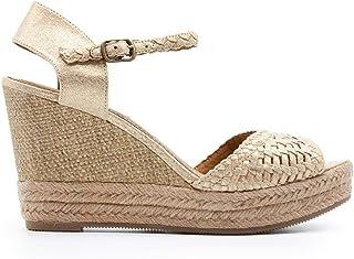 más baratas 65fb6 d62b4 Amazon.es: cuñas esparto - Dorado / Zapatos para mujer ...