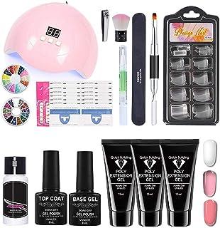 kylew Kit de Inicio de uñas de Gel con lámpara UV Mini secador de uñas LED con Esmalte de uñas de Gel Conjunto de Herramientas de manicura de Capa Base y Superior